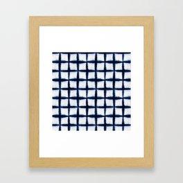 Shibori Squares Framed Art Print
