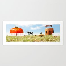 Honey I Shrunk the Farm. Art Print