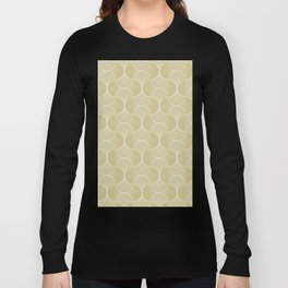 Scandinavian Floral - Art Deco Geometric Shapes Long Sleeve T-shirt