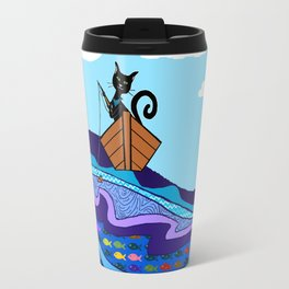Cat  Fishing Travel Mug