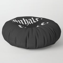 inhale, exhale Floor Pillow