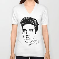 elvis V-neck T-shirts featuring Elvis! by John Medbury (LAZY J Studios)
