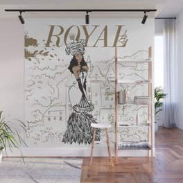 Kayla Royal Wall Mural