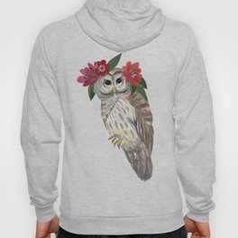 Owl with flower crown Hoody