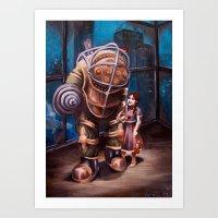 bioshock Art Prints featuring Bioshock by Emily Blythe Jones