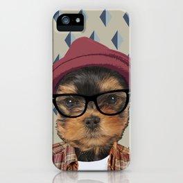 Dog vector iPhone Case