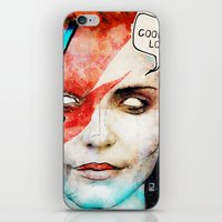 david bowie iPhone & iPod Skins featuring Ziggy Stardust/David Bowie by Ed Pires