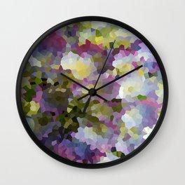 Crystallized Purple Hydrangea Wall Clock