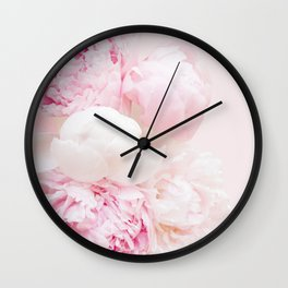 Peonies Bouquet   Peonies Photography   Floral   Nature   Flowers Wall Clock