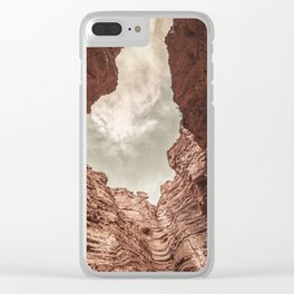 Curved Rocks Clear iPhone Case