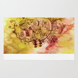 Abstract Painting Elephant I Rug