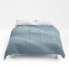 Droplets on Silver Tussock Comforters