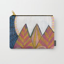 Moon Over Mountains at Dusk Carry-All Pouch