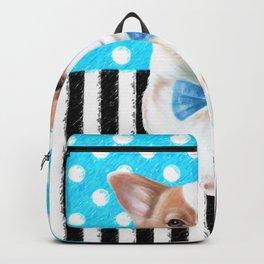 Cute Corgi Blue Backpack