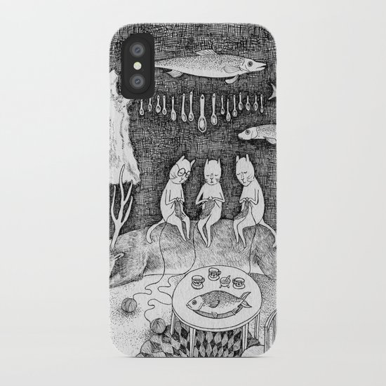 Knitting Cats iPhone Case