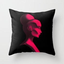 Red Cameo Throw Pillow
