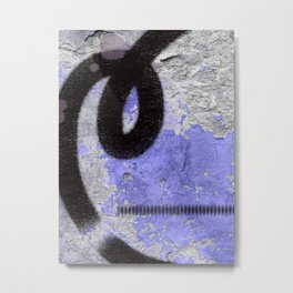 Unexpected Places: street art in black white and purple by Alyssa Hamilton Art Metal Print