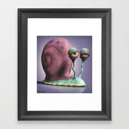 Gary the Snail Framed Art Print