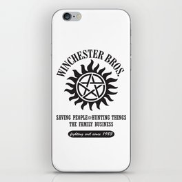SUPERNATURAL WINCHESTER BROTHERS DEAN AND SAM iPhone Skin