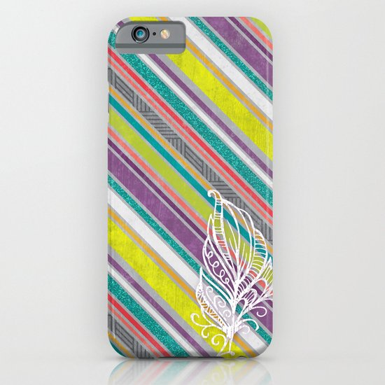 Feather Stripes iPhone & iPod Case