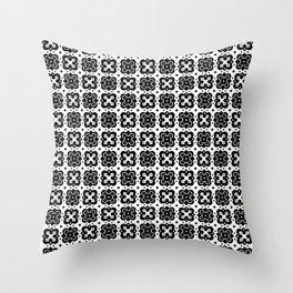 Black & White Handkerchief Pattern Throw Pillow