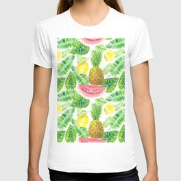 Tropical pattern T-shirt