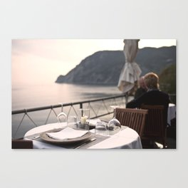 Cinque Terre: Dinner with a view Canvas Print