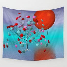 fancy tree and full moon -2- Wall Tapestry