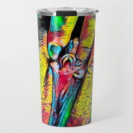 4246s-RES Abstract Pop Color Erotic Explicit Clitteral Psychedelic Yoni Self Love Travel Mug