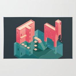 Pink Castle Rug
