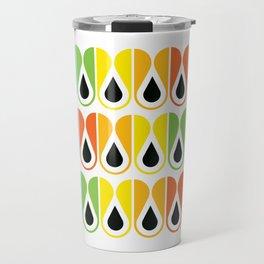 Geometric Pattern #120 (colorful loops) Travel Mug