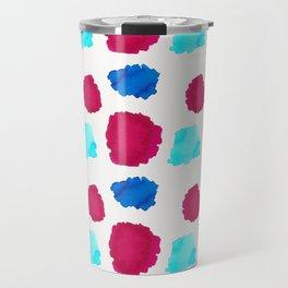 Watercolor Swashes Pattern Travel Mug