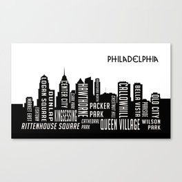 Skyline Philadelphia Canvas Print