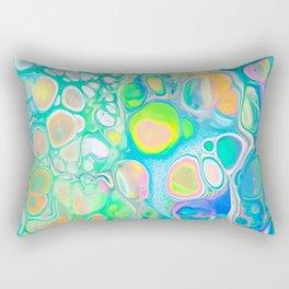 Blue Green Cells Rectangular Pillow