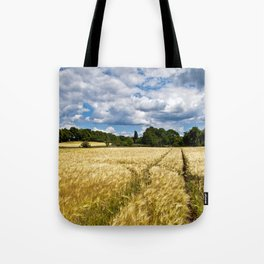 Golden wheat field poetry Tote Bag