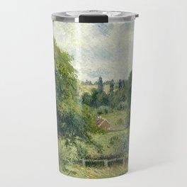 "Camille Pissarro ""Le grand noyer dans le pré, Éragny"" (""The big walnut in the meadow, Éragny"") Travel Mug"