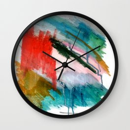 Happiness - a bright abstract piece Wall Clock