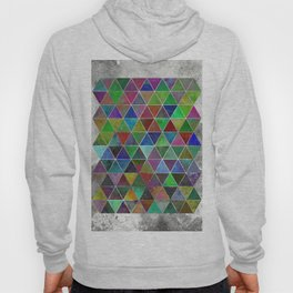 Textured Triangles - Abstract, textured, geometric, painting Hoody