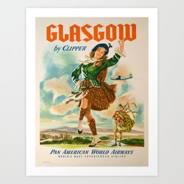 Vintage poster - Glasgow Art Print
