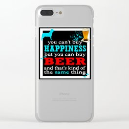 BEER AND HAPPINESS Clear iPhone Case