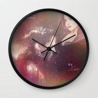 evil queen Wall Clocks featuring The Evil Queen by Daniela Vasco