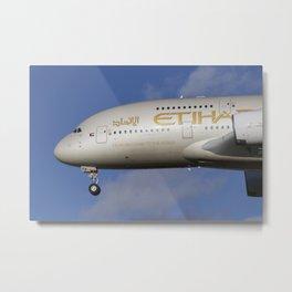 Etihad Airlines Airbus A380 Metal Print