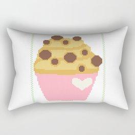 Chocolate chip muffin Rectangular Pillow