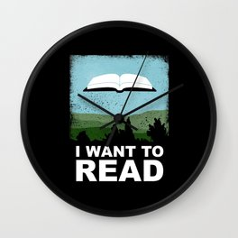 I Want to Read Wall Clock