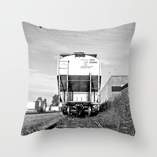 Urban train car Throw Pillow