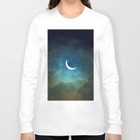 stars Long Sleeve T-shirts featuring Solar Eclipse 1 by Aaron Carberry