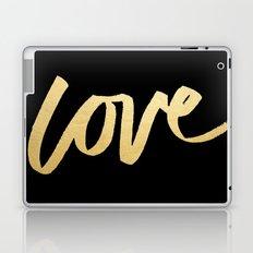 Love Gold Black Type Laptop & iPad Skin