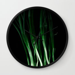 Green onion Wall Clock