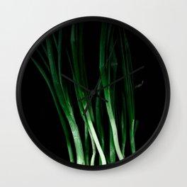 Green onion Wall Clock