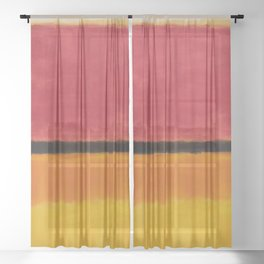 1949 Untitled (Violet, Black, Orange, Yellow on White and Red) by Mark Rothko Sheer Curtain